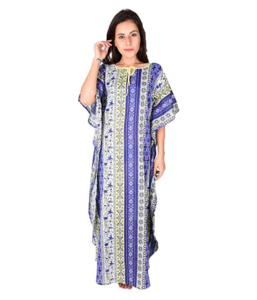 The Kaftan Company Cotton Nighty & Night Gowns Price in India | Buy ...