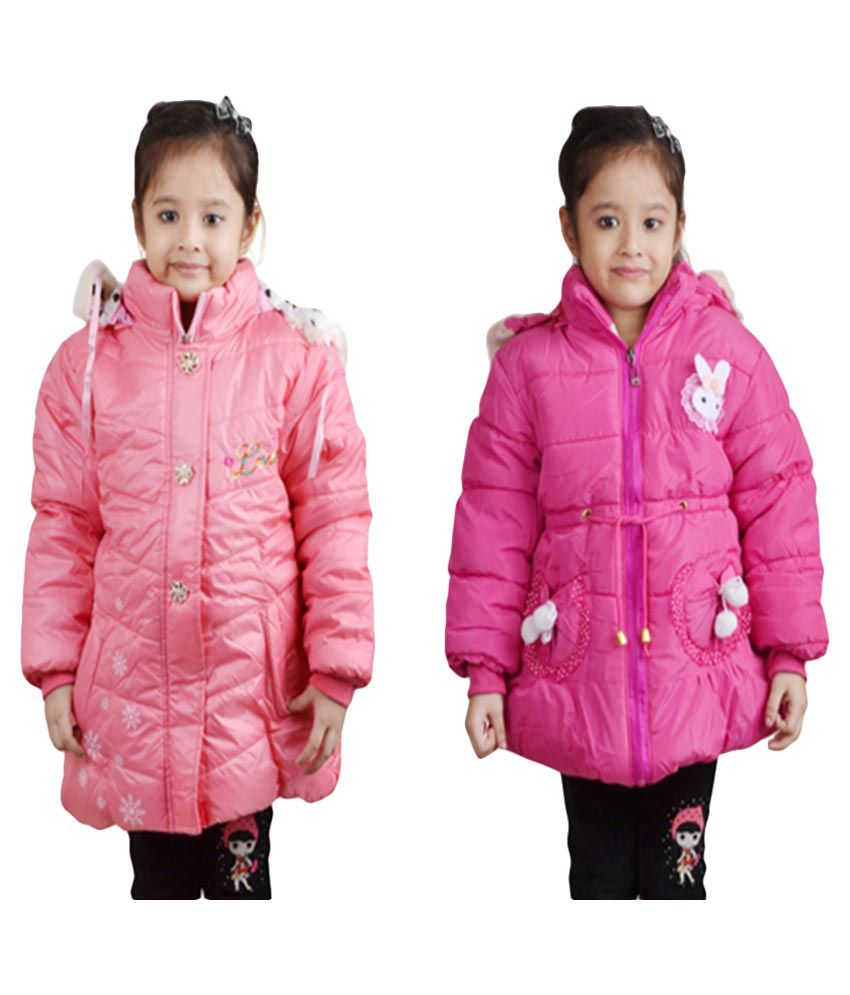 Crazeis Pink Quilted Jackets - Pack of 2