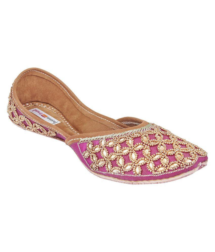 Fusion Trunk Multi Color Flat Ethnic Footwear