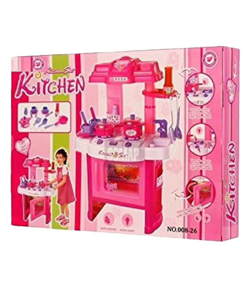 Latest pink kitchen set buy latest pink kitchen set online at low price snapdeal