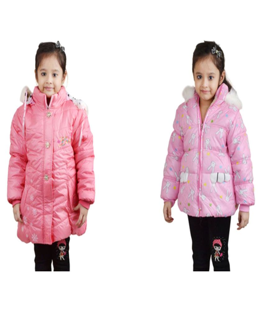 Qeboo Pink Quilted and Bomber Jacket - Set of 2
