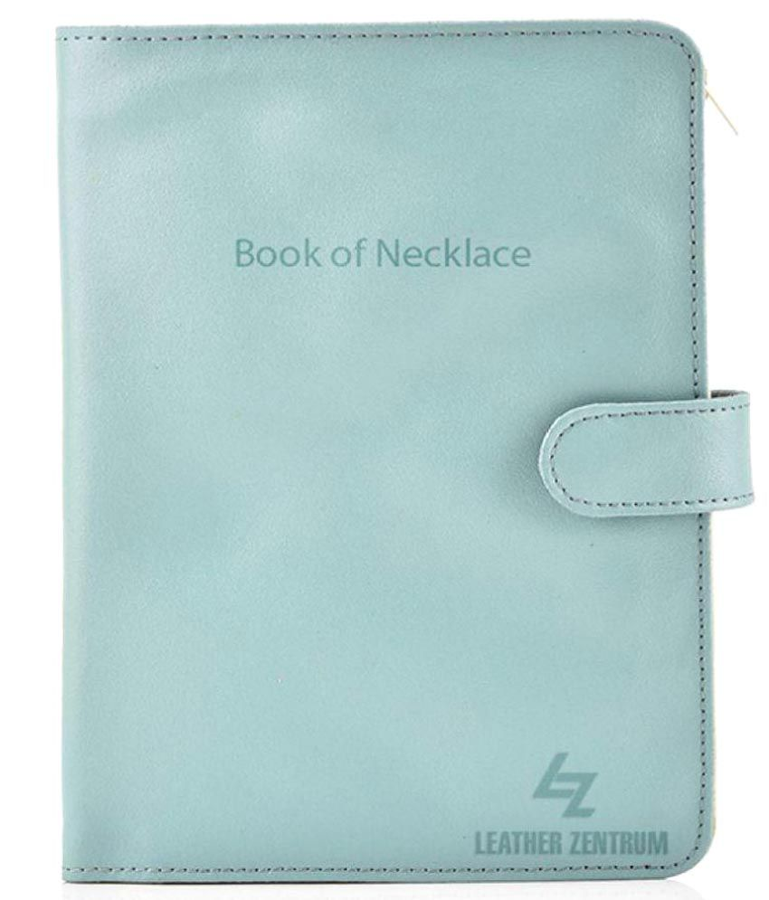 Leather Effect Faux Leather Book of Necklace
