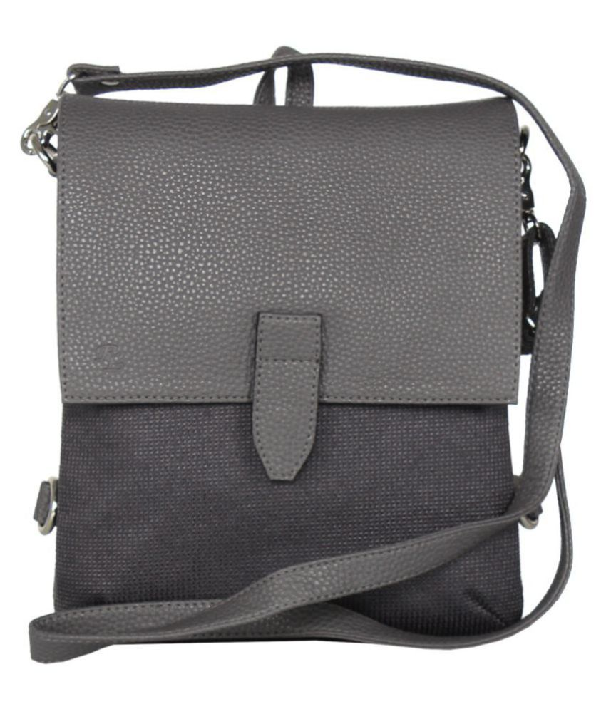 Walletsnbags Gray Non Leather Sling Bag