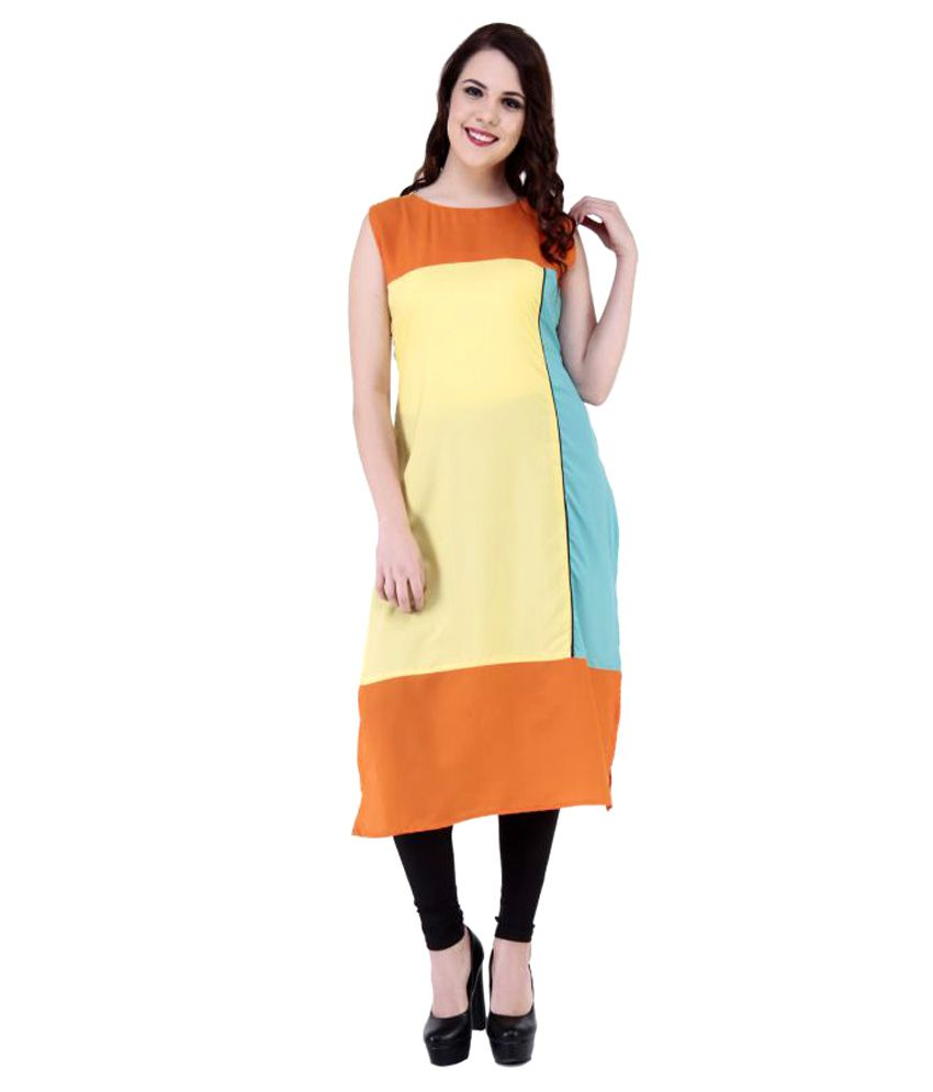 Ayodhya Saree Multicoloured Crepe Straight Kurti