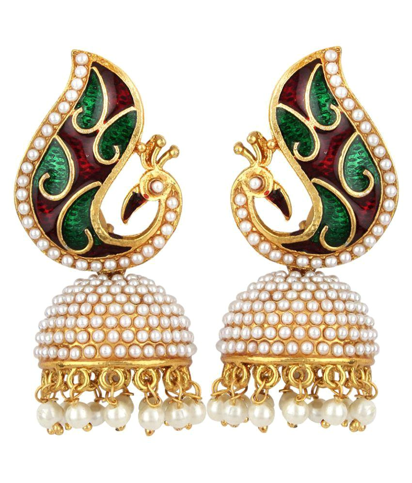 Angel In You Multicolour Jhumki Earrings