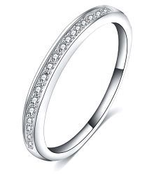 Jewels Galaxy Platinum Plated Ring For Women/Girls