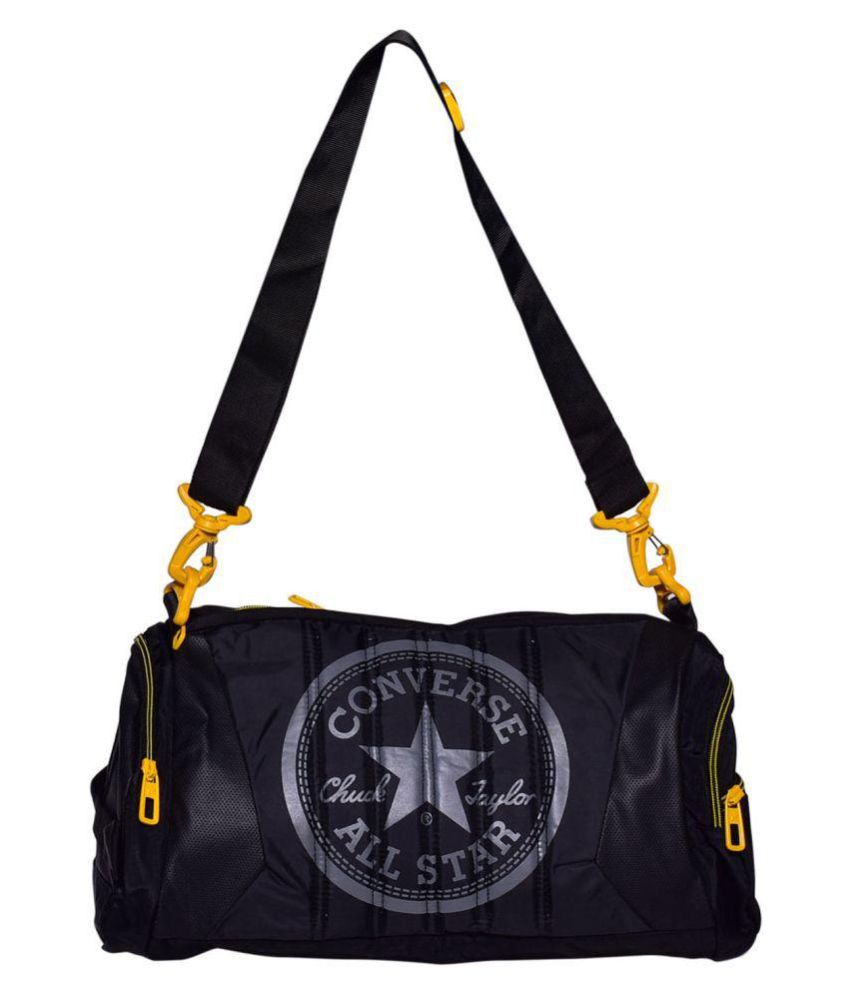 1af6e723d22 Converse Black Large Polyester Gym Bag - Buy Converse Black Large Polyester  Gym Bag Online at Low Price - Snapdeal