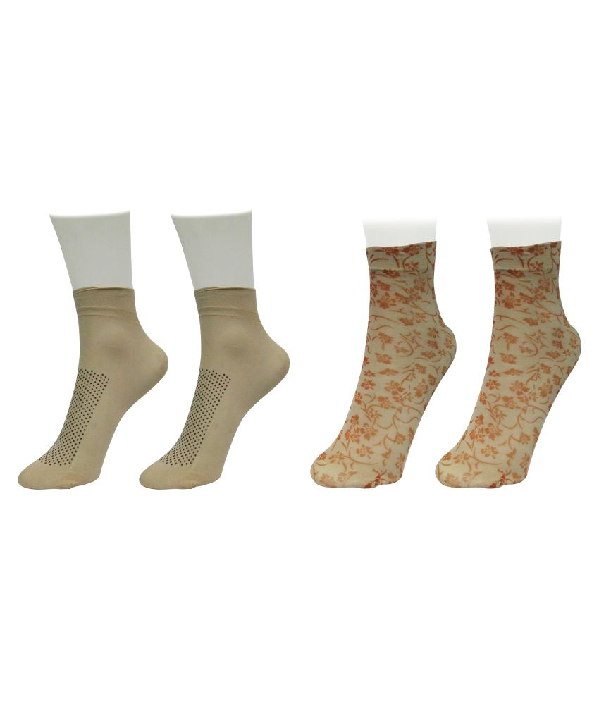 Gold Dust Multicolour Ankle Length Socks - 2 Pair Pack