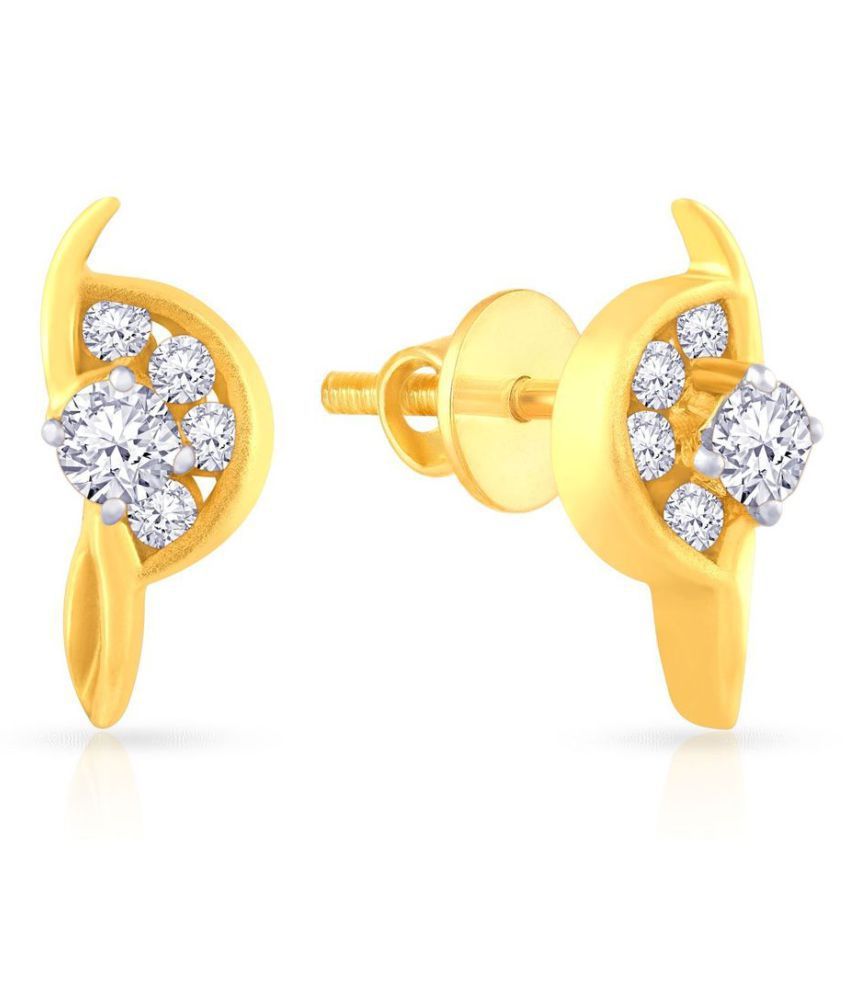 Malabar Gold and Diamonds 18k Gold Studs