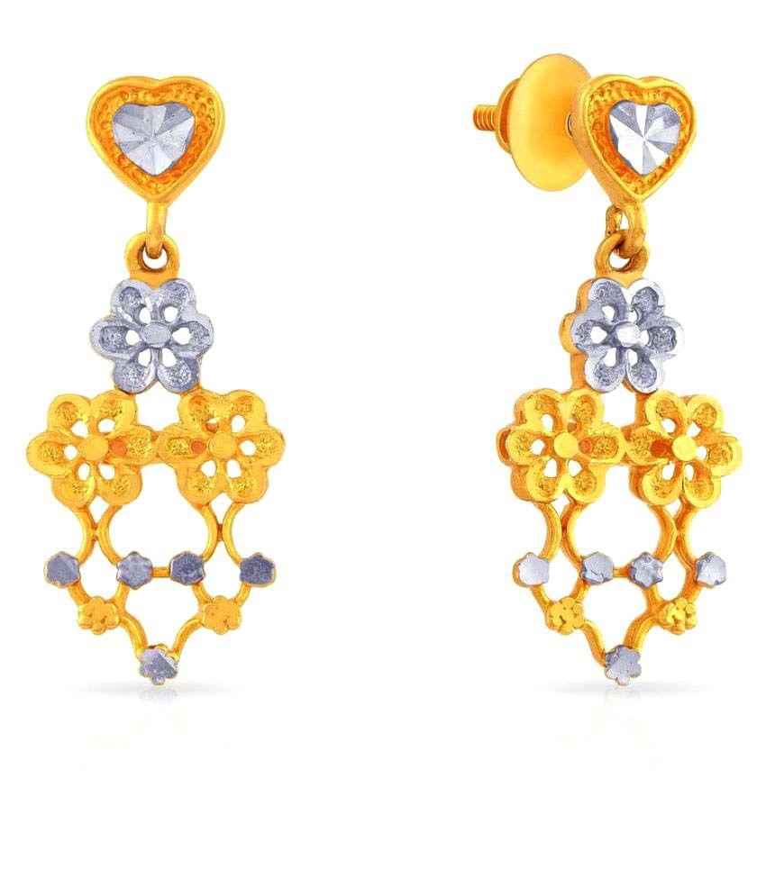 Malabar Gold and Diamonds 22k Gold Hangings