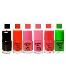 Fashion Bar Nail Polish Goggly Orange Matte 30 Ml Pack Of 6