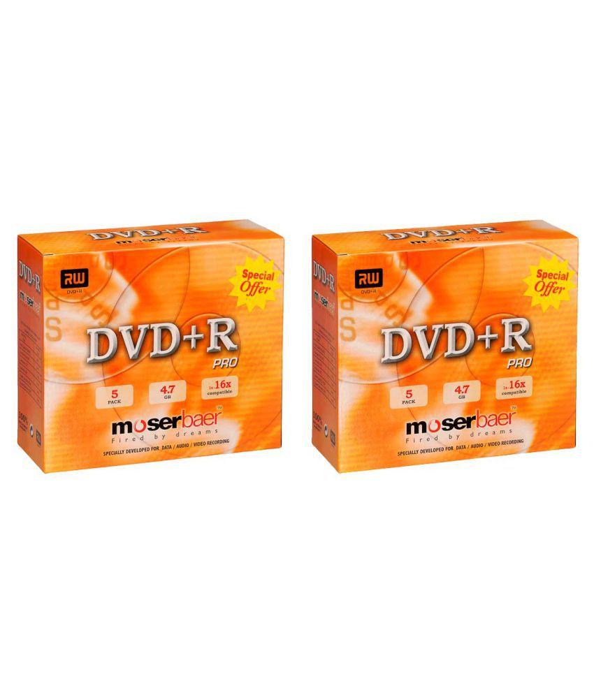 Moserbaer DVDR 10 DVD Rewritable