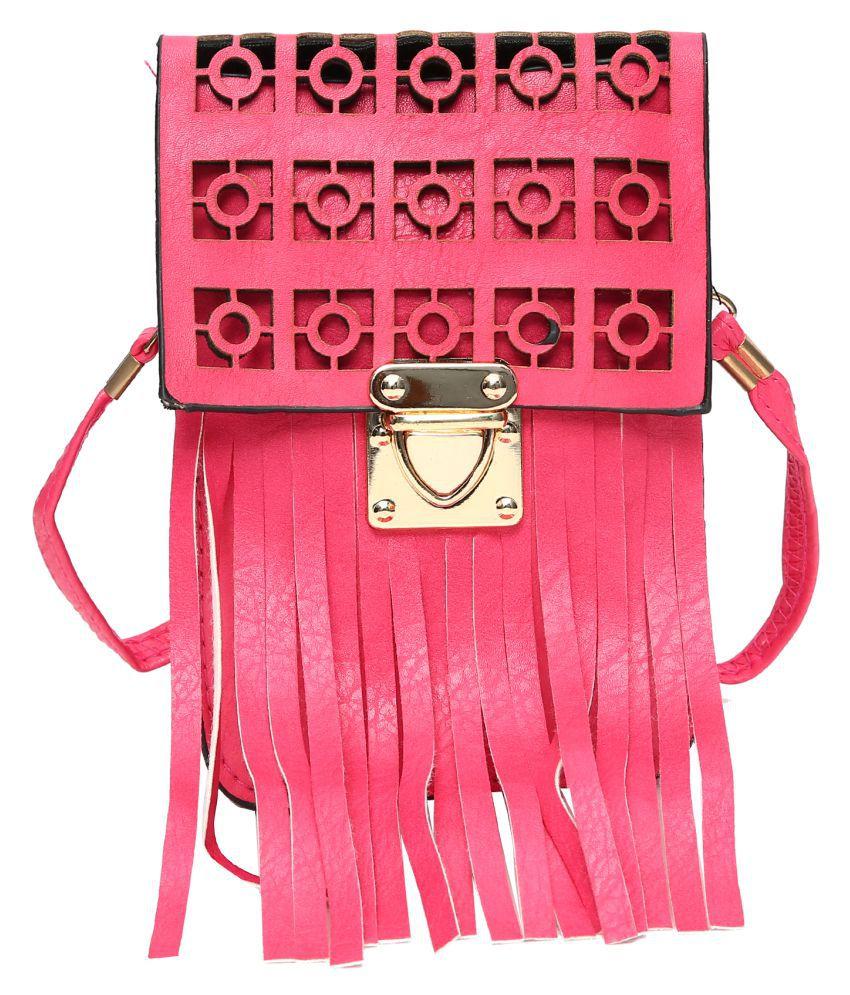Hawai Pink P.U. Sling Bag