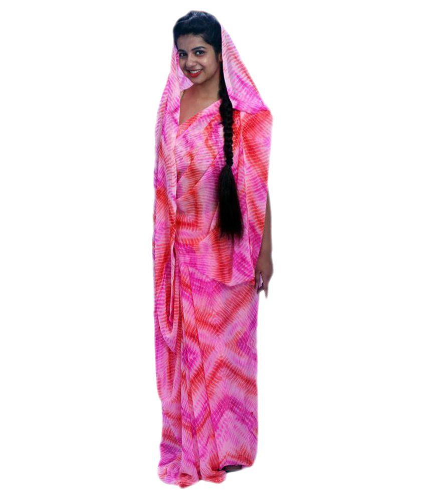 Aaradhya Fashion Multicoloured Georgette Saree
