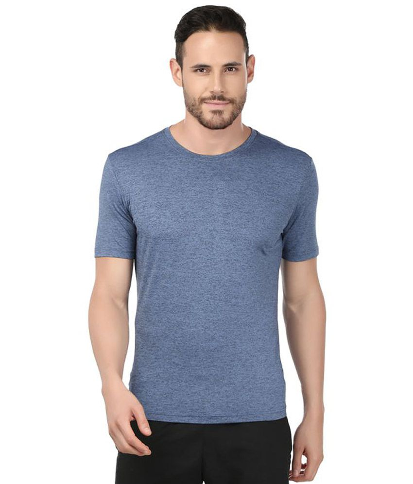 Fitrr Blue Polyester T Shirt