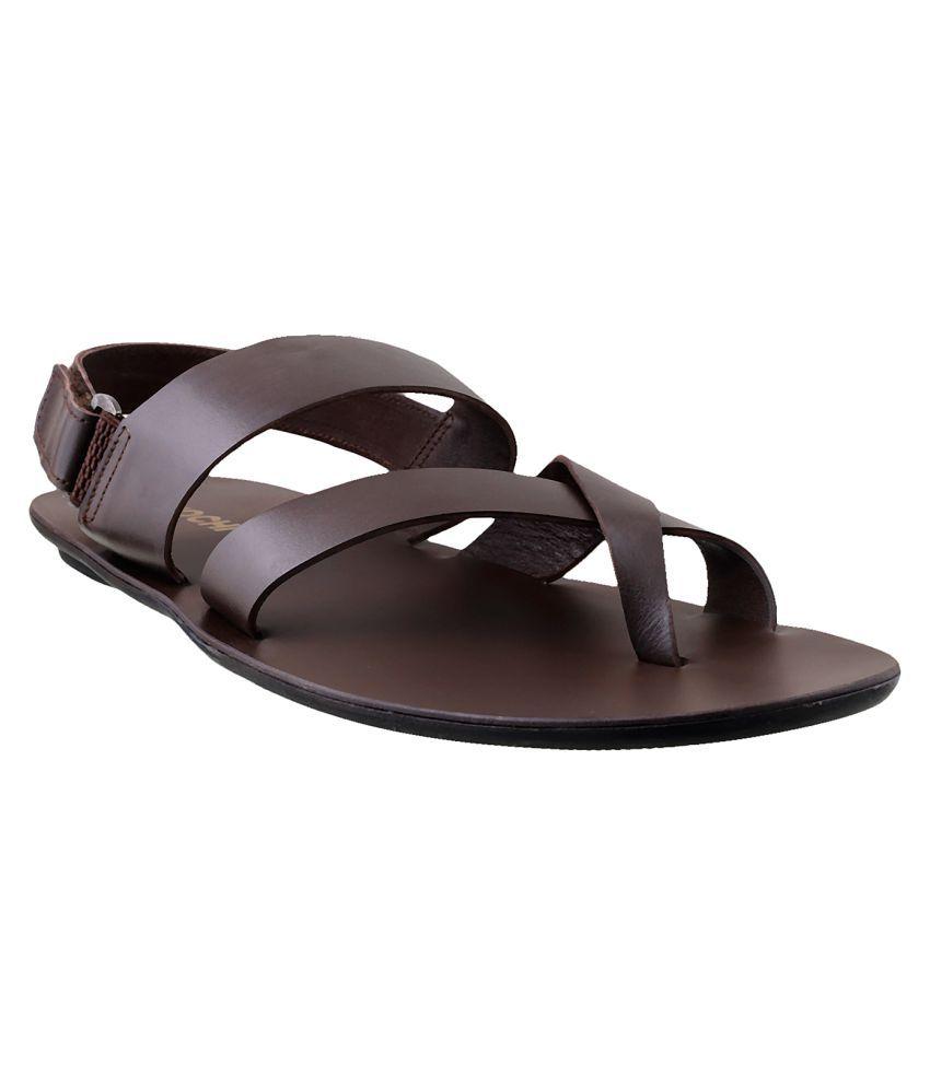 129fda34f593 Mochi MOCHI Men BROWN LEATHER BROWN Sandals Price in India- Buy Mochi MOCHI  Men BROWN LEATHER BROWN Sandals Online at Snapdeal