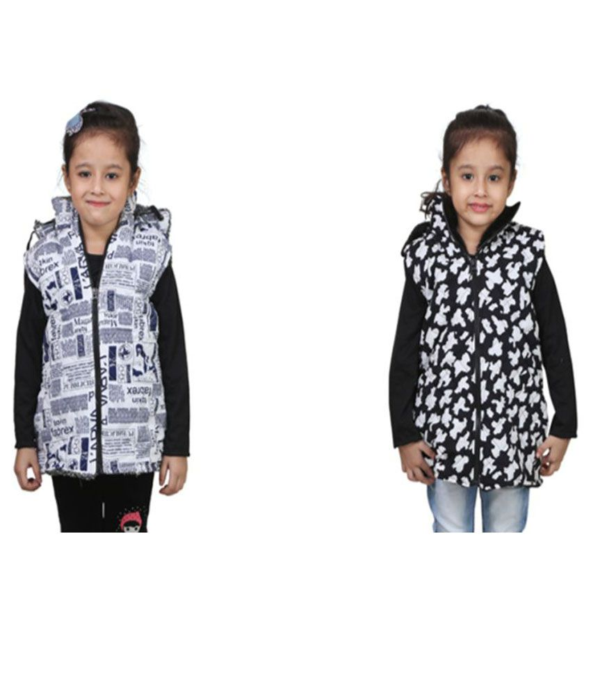 Crazies Multicolour Jacket for Girls - Pack of 2