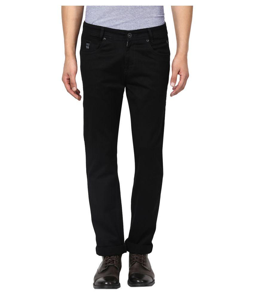 Mufti Black Straight Jeans