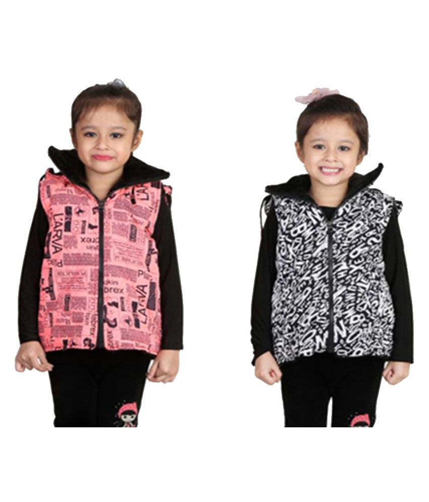 Crazeis Multicolor Light Weight Jacket - Pack of 2