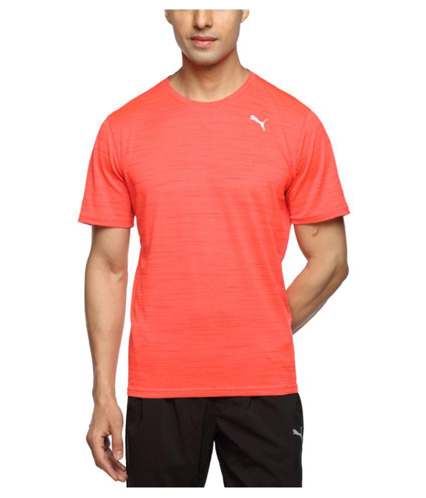 Puma Orange Cotton T-Shirt