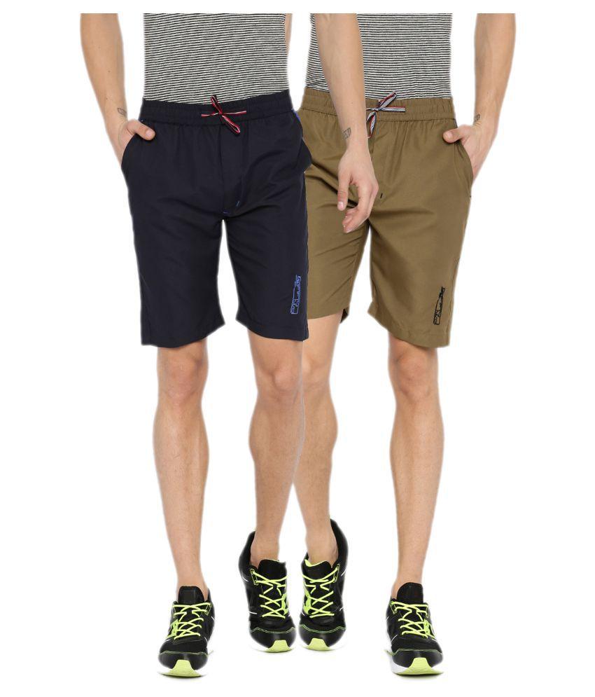 Sports 52 Wear Multi Shorts Pack of 2