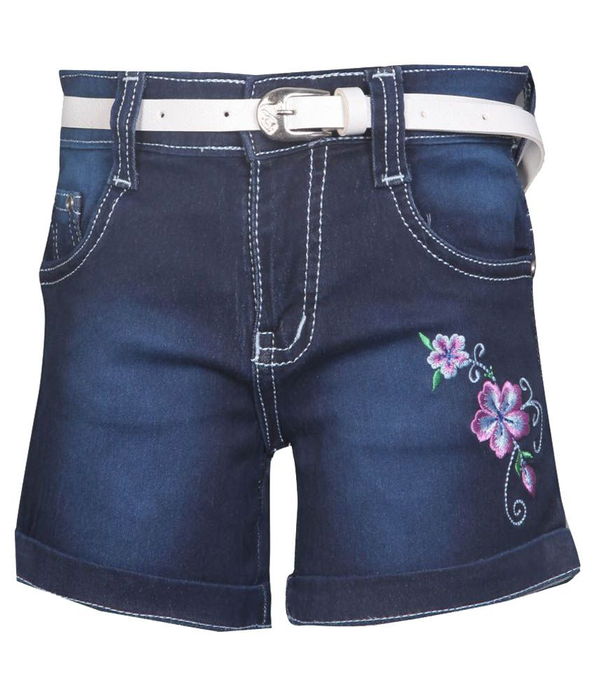 Fck-3 Blue Denim Shorts