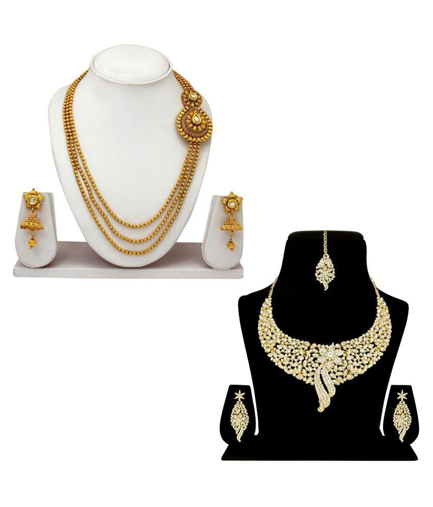Atasi International Golden Necklace Set Combo