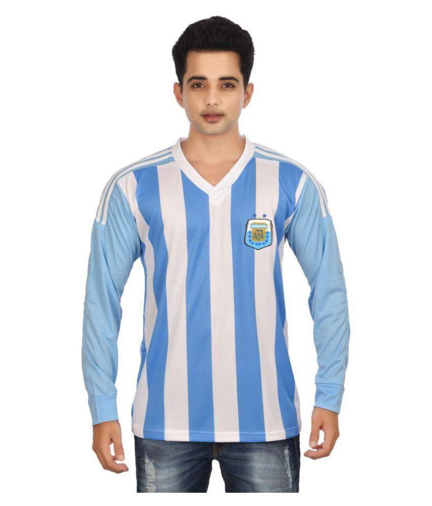 I & Me Blue Polyester T Shirt