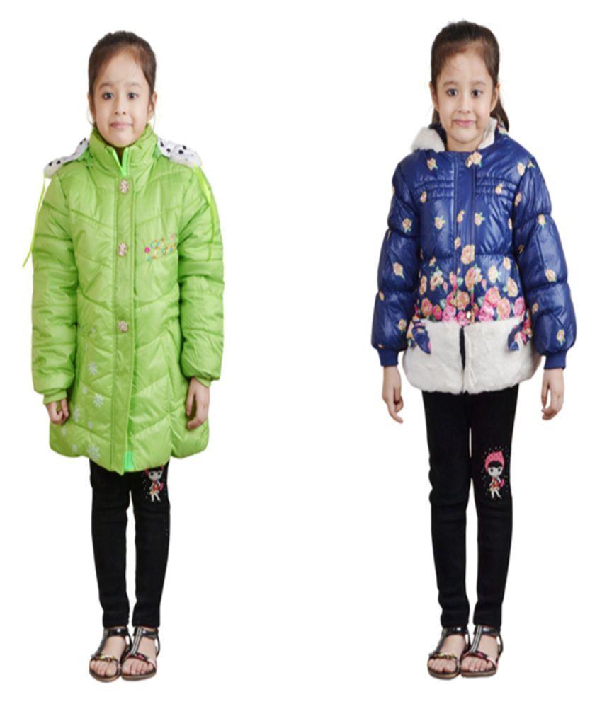 Crazeis Full Sleeves Combo of 2  Nylon Jackets For Girls.