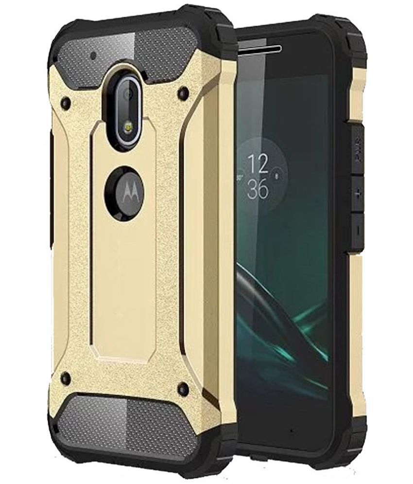 the latest 71782 becfb Moto G4 Plus Cover by Norby - Golden