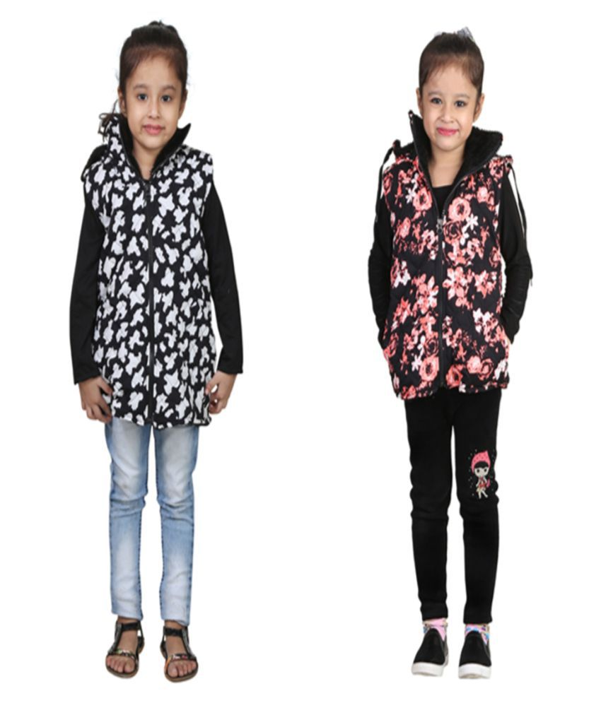 Qeboo Multicolour Jacket For Girls - Pack of 2