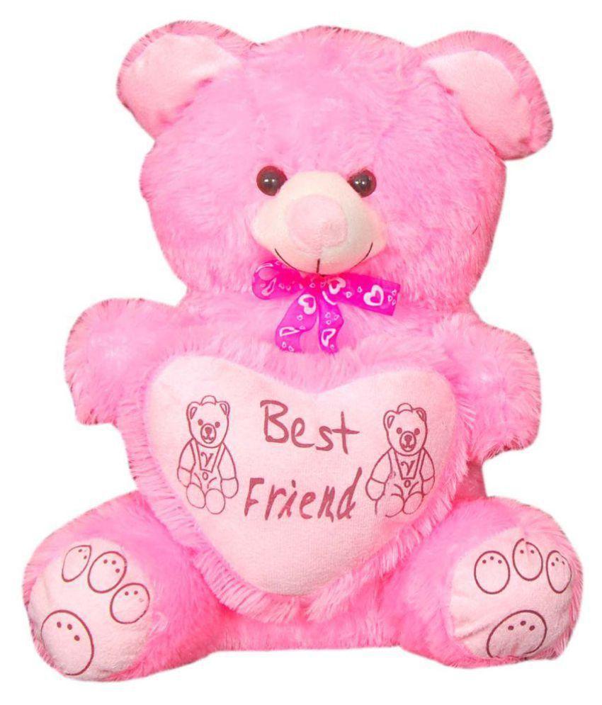 Kashish Trading Company Pink Teddy bear stuffed love soft toy for boyfriend, girlfriend 45 Cm ...