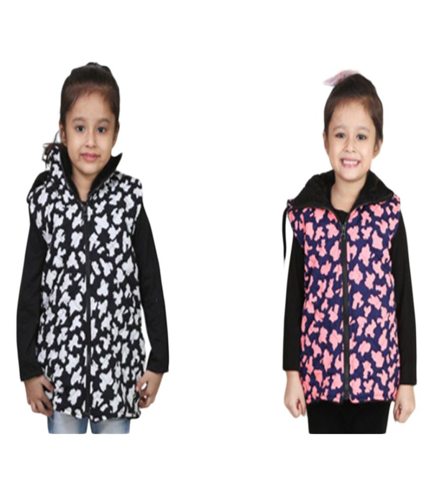 Crazies Multicolour Light Weight Jacket for Girls