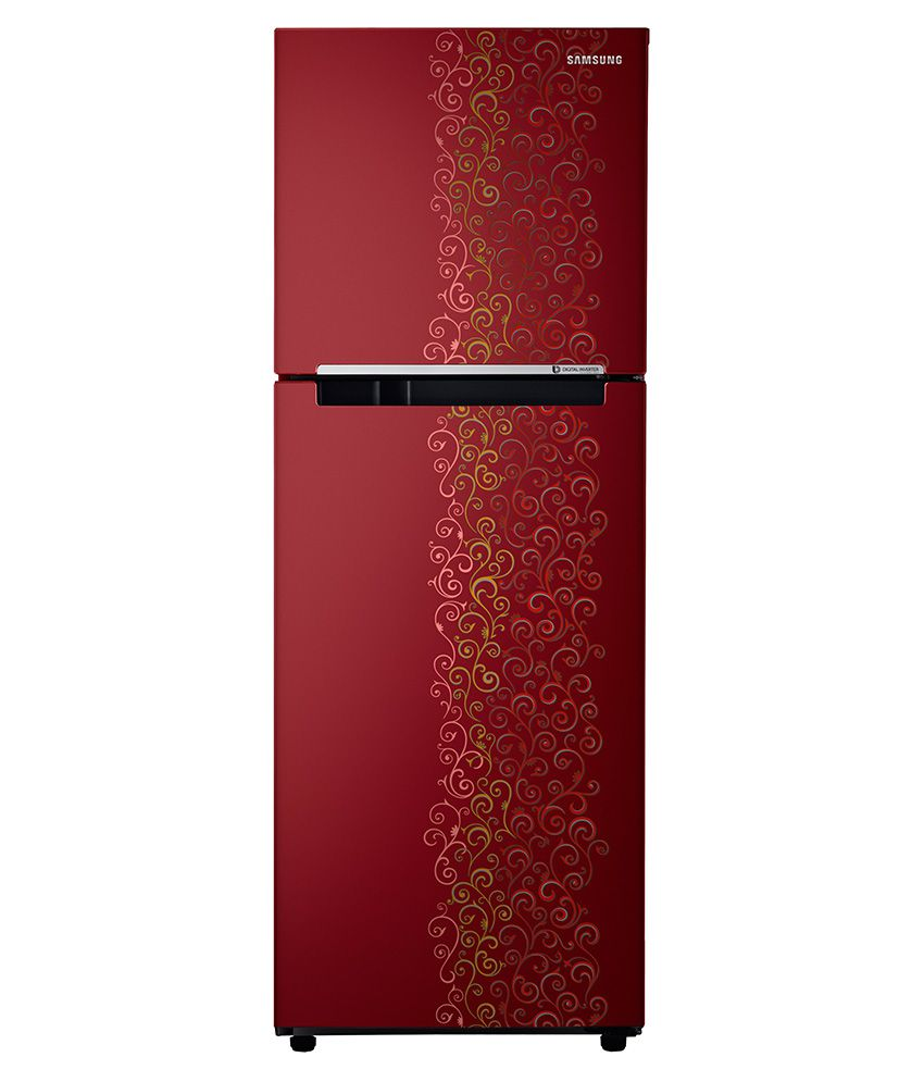 Samsung 253 Ltr 2 Star RT28K3022RJ/HL Double Door Refrigerator [with Digital Inverter] - RoyalTendrill Red