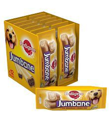 Pedigree Jumbone( Adult - Dog Treats) , Chicken And Rice ,2.40 Kg ( Pack Of  12 ,2 Sticks)