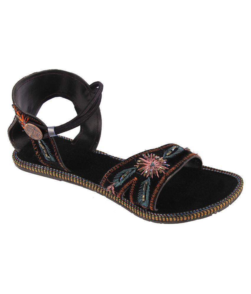 Glam World Black Flat Heels