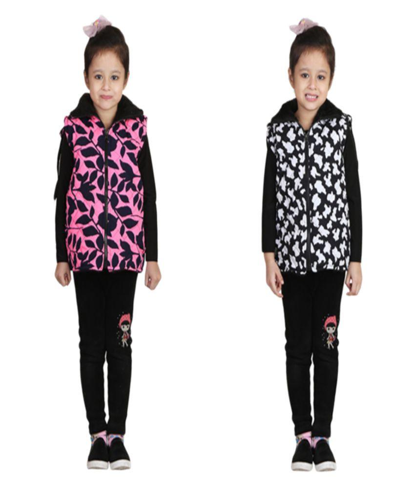 Qeboo Multicolour Nylon Jacket - Pack of 2
