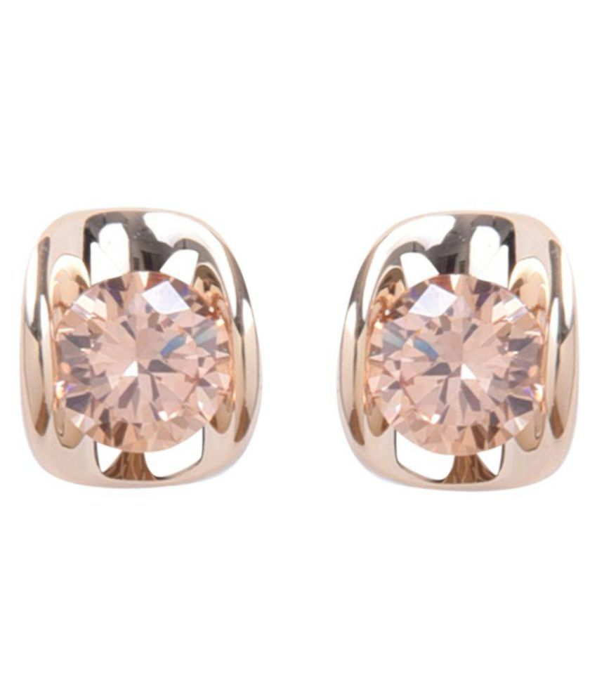 Diana Korr Crystal Gold-Plated Studs