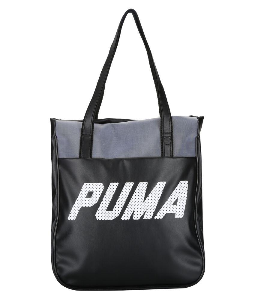 58091ffd10d7 Puma Black P.U. Tote Bag - Buy Puma Black P.U. Tote Bag Online at Best  Prices in India on Snapdeal