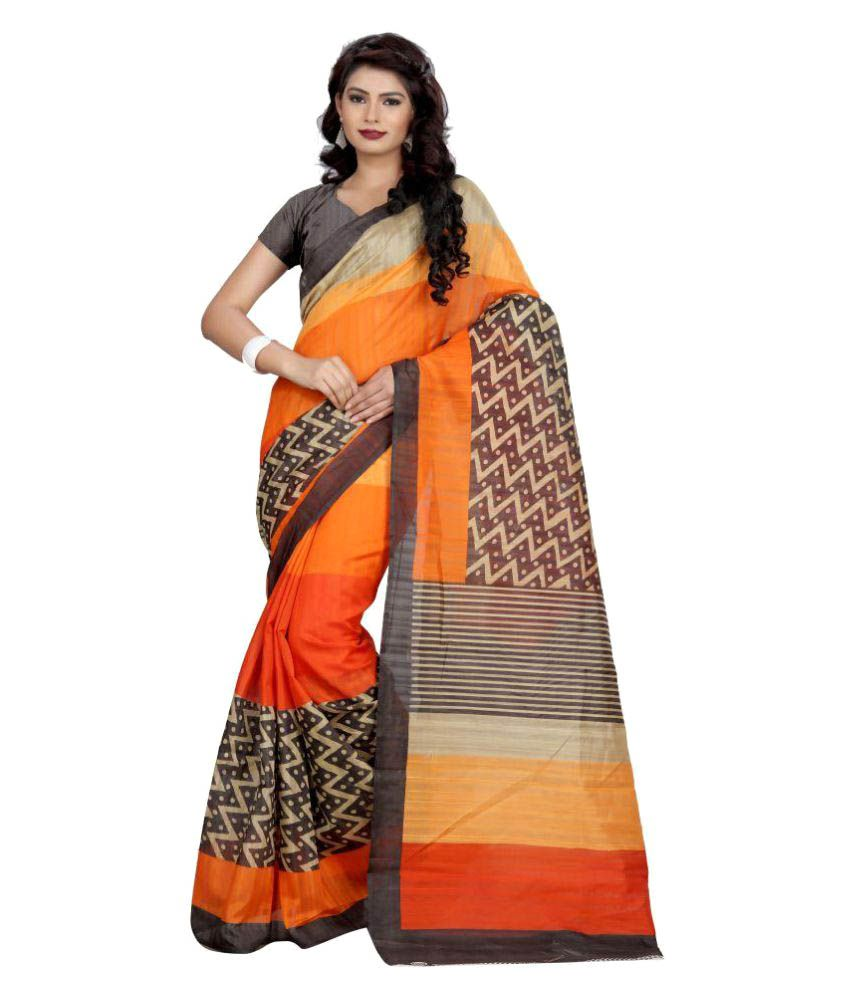 Sarees Multicoloured Bhagalpuri Silk Saree
