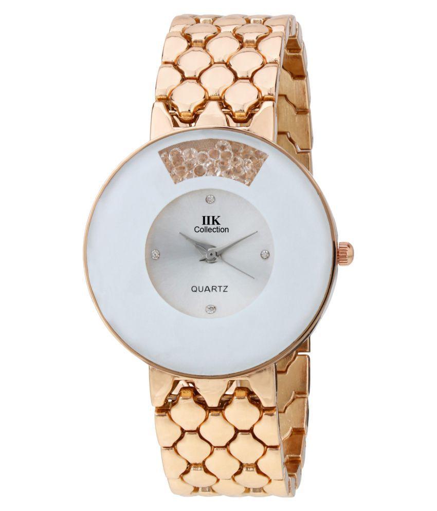 IIK Collection Rose Gold Analog Wrist Watch
