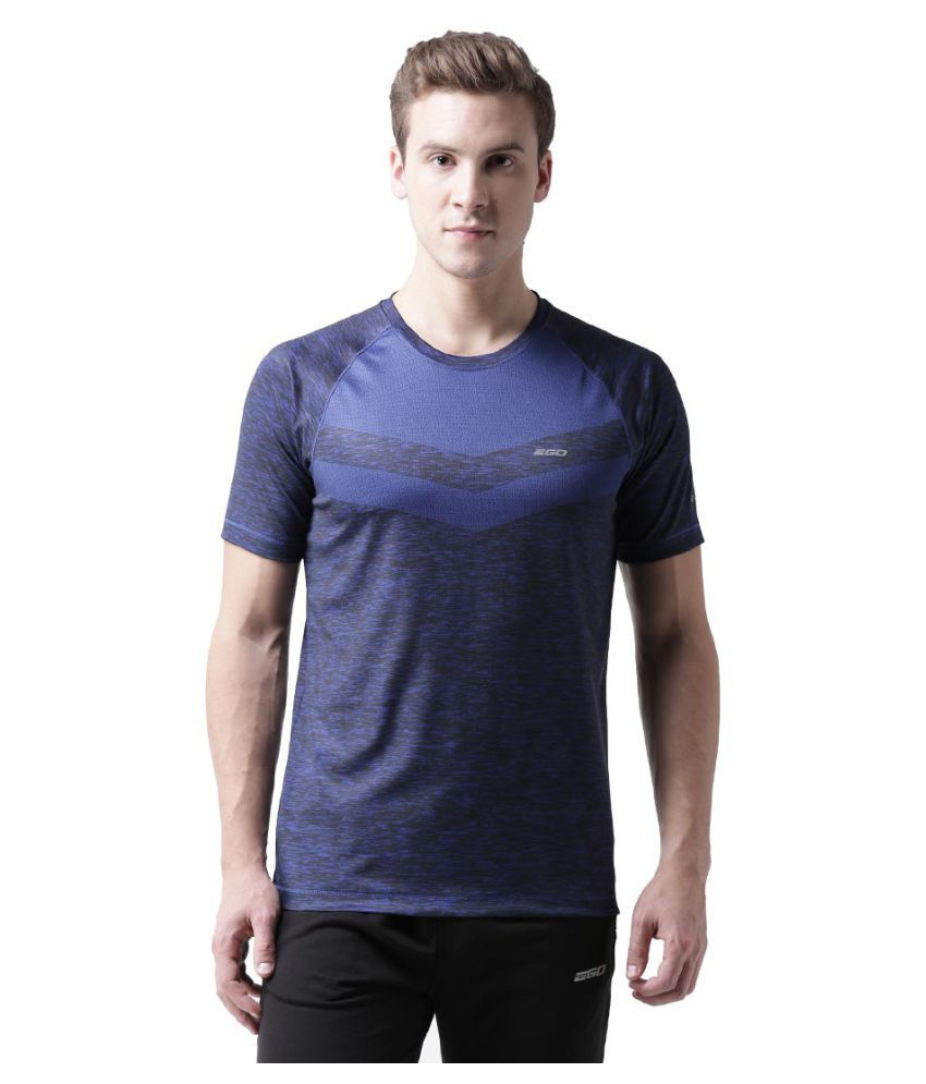 2GO Blue Polyester T Shirt