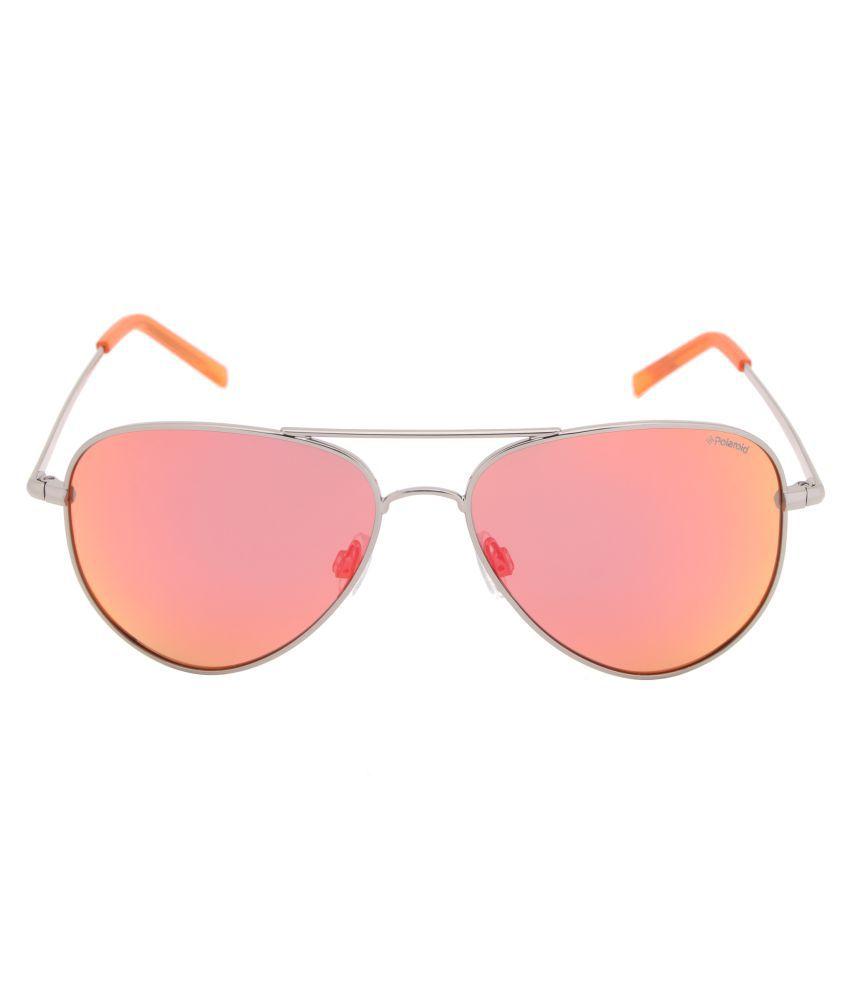 8363b7a94 Polaroid Red Aviator Sunglasses ( PLD 6012/N 6LB 56OZ ) - Buy ...