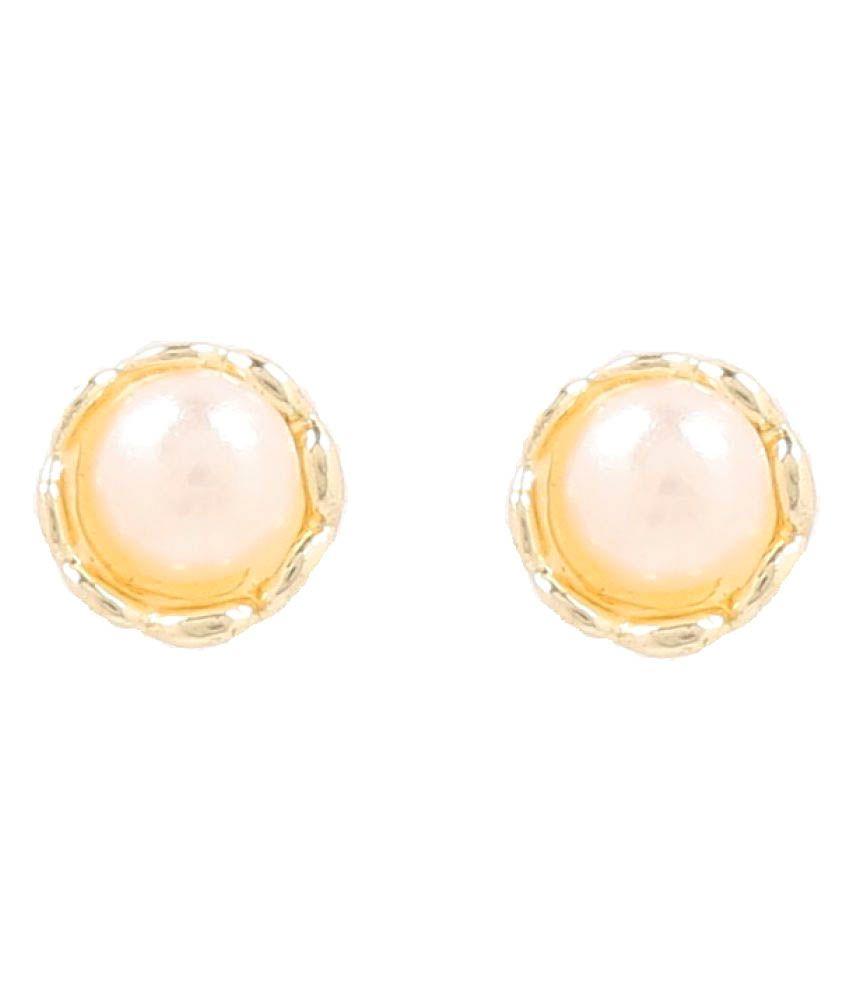 GoldNera Golden Studs Earrings