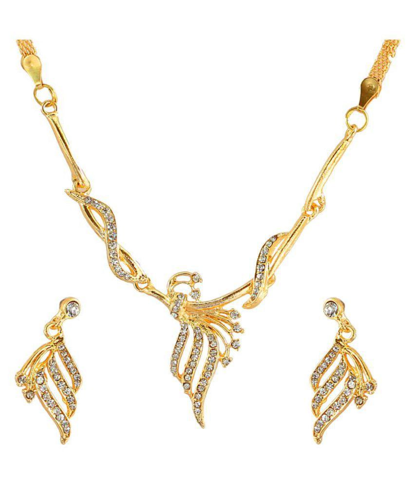 Touchstone Golden Necklace Set