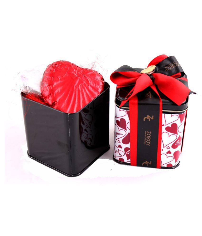 Zoroy Luxury Chocolate Valentine's Day Assorted Tin Valentines day love Gift 100 gm