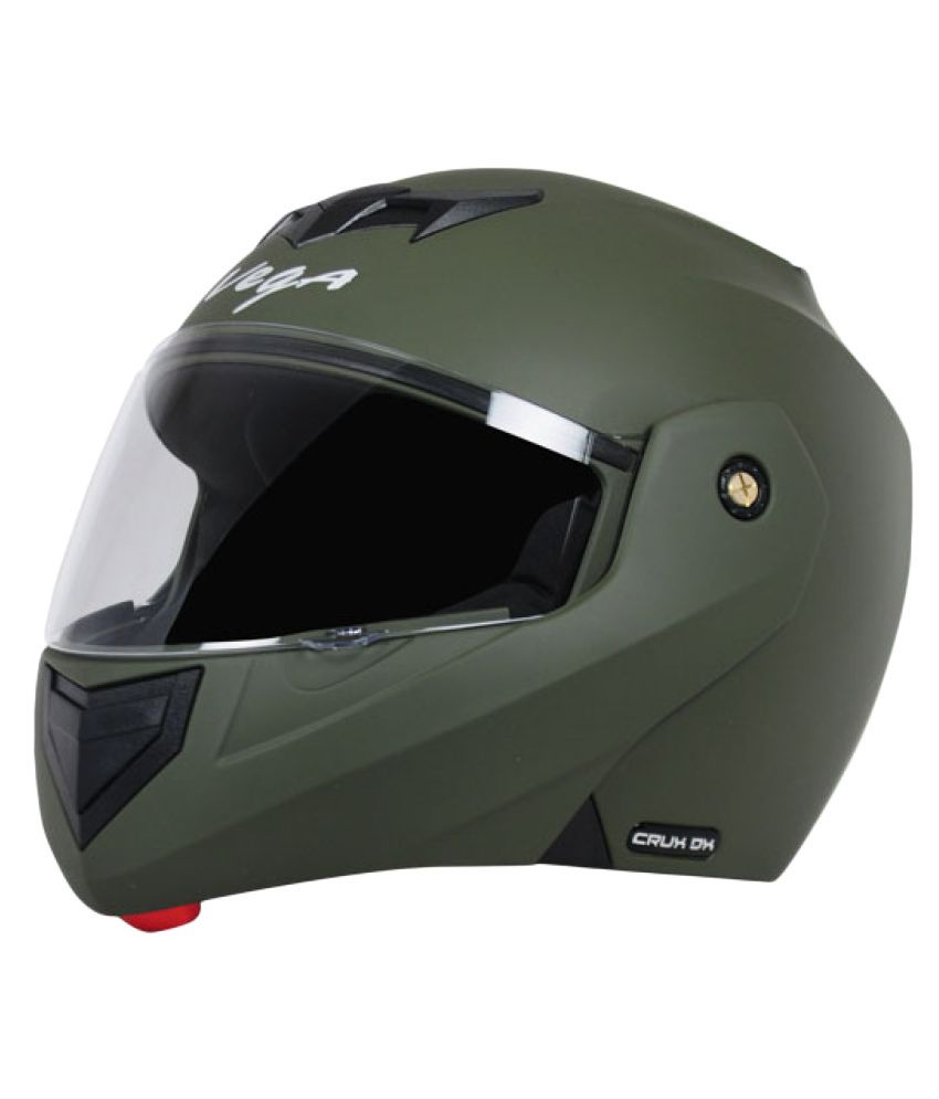 85cad565 Vega Auto Crux Dx Checks Battle - Full Face Helmet Army Green L: Buy Vega  Auto Crux Dx Checks Battle - Full Face Helmet Army Green L Online at Low  Price in ...