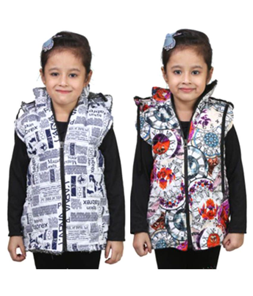 Crazeis Multicolour Light Weight Jacket for Girls