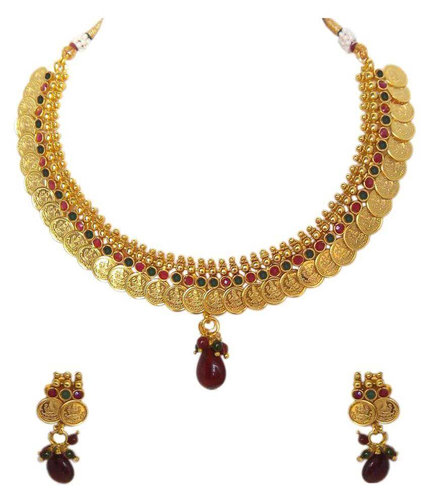 Carrydreams Golden Copper Necklaces Set
