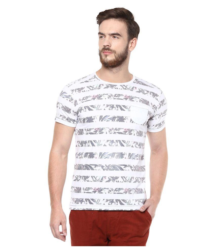 Mufti White Round T-Shirt